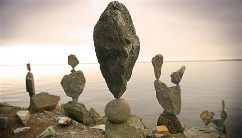 artist stone piles