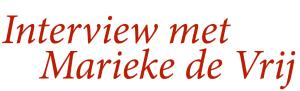 Interview Marieke de Vrij